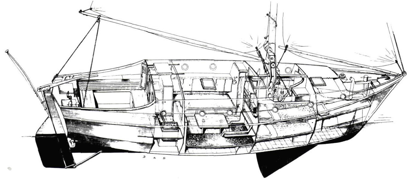 Opened out drawing of the Alcyone