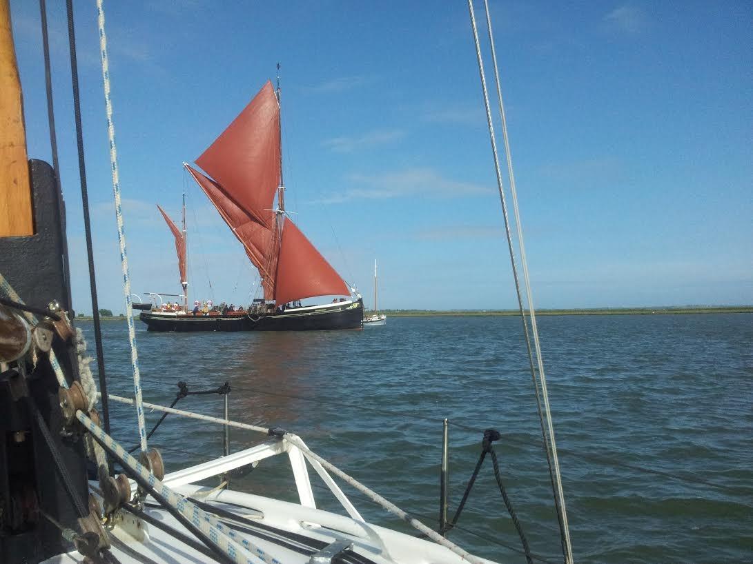 Sailing Barge aan de monding van river Orwell