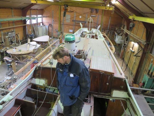 Restoration Alcyone II Majella Shipyard O.H. van der Werff at Buitenstvallaat, February 9th 2015